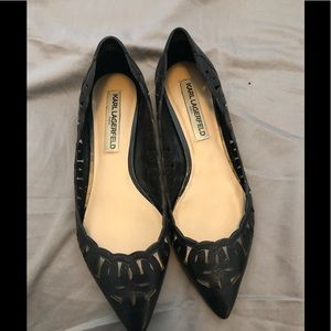 Karl Lagerfeld size 10 flat - in good condition